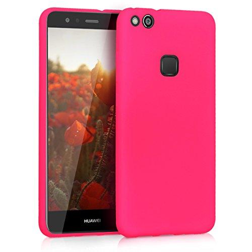 kwmobile Huawei P10 Lite Cover - Custodia per Huawei P10 Lite in Silicone TPU - Backcover Protezione Rosa Shocking