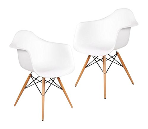 ! Fashion Commerce DAW Set di 2 Sedie, Polipropilene, Bianco, 59×62.5×80 cm confronta il prezzo online