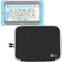 DURAGADGET Funda Negra De Neopreno Para Cefatronic Tablet Clan Pro / Kurio Tab 2   Resistente Al Agua - Suave Al Tacto