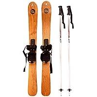 YTBLF Esquís De Madera para Principiantes Trineo De Moda Willow Rod Esquís Snowboard Double Board 110Cm