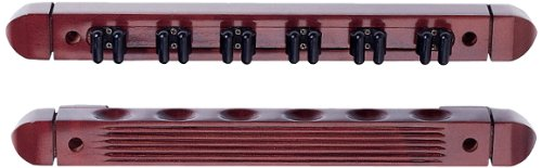 Hj Scott cr10226-cue Wandhalterung Billard Queue Rack mit Cue Clips, CR1022, cherry (6 Cue-rack-clip Cues)