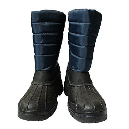 New Schwarz Unisex Herren Damen Reiten Yard Wasserdicht stabile Walking Regen Schnee Winter Ski Gummistiefel Wellington Wellys Warm Farm Mucker Boots