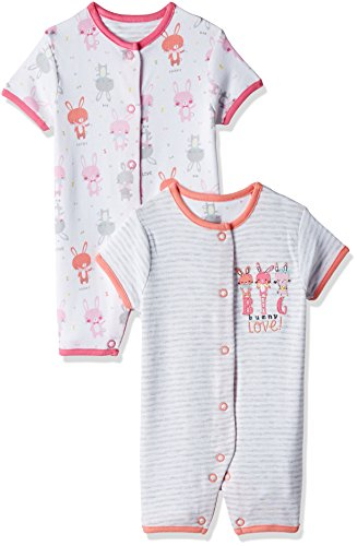 Mothercare Unisex Romper Suit (Pack of 2) (LC557_Coral_80)