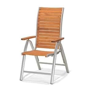 ScanCom 1354500001 Cougar Positionsstuhl, mehrfach verstellbar, Alu-Gestell, Eukalyptusholz, FSC zertifiziert