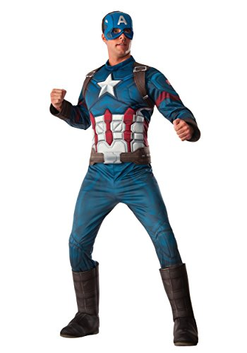 Captain America 3 Deluxe Captain America Costume Adult X-Large