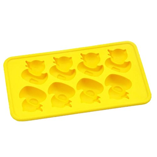 Ente Eiswürfelschale DIY Eis am Stiel Eiscreme-Form Hirolan Eis am Stiel Schimmel Silikon Eis Lolly Formen Eismaschine Lebensmittelqualität machen gesunde Lebensmittel für Ihre Kinder (Gelb) (Halloween-diy-leckereien Für Kinder)