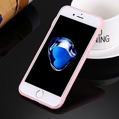 iPhone Case Cover Pour iPhone 7 solide couleur TPU étui de protection sans trou rond ( Color : White ) Pink