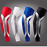 Blue, XL : One Piece Newest Arrival High Elastic Quick Dry Dwight Howard Sport Elbow Arm Warmers Pad Long Arm Sleeve Support Basketball