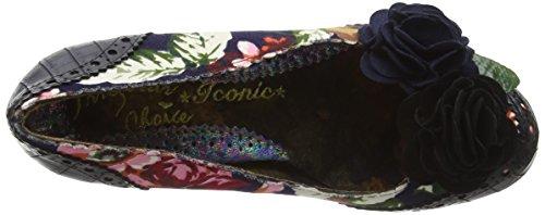 Irregular Choice - Fantastic Low, Scarpe col tacco Donna Nero (Black (Black Floral))