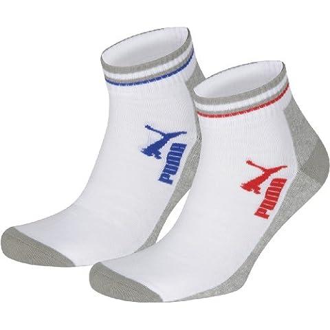 Puma Jump Quarters 2P, Calza sportiva alla caviglia, Bianco, (Imbottite Calzini Sport Quarter)