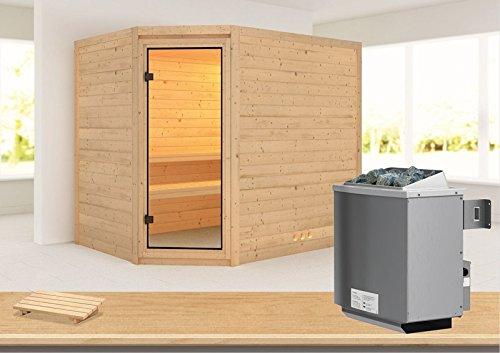 Tanami - Karibu Sauna inkl. 9-kW-Ofen - ohne Dachkranz -