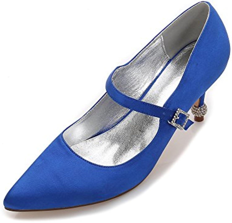 9806a28d89e2 ZBeiBei Parent Women s Rhinestones Buckle Wedding Party Shoes Buckle Satin  High Heels Rhinestones Pumps B07CJWF73B Parent 1c4a507. Search. Menu