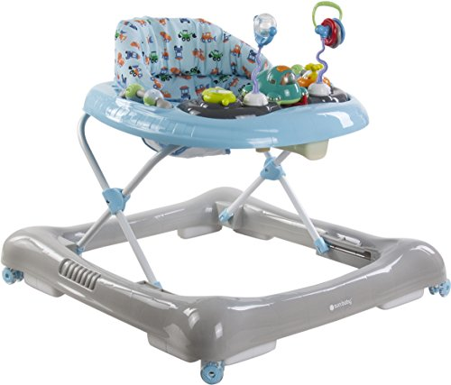 Sun Baby Walker - Andador con coche desmontable, color azul