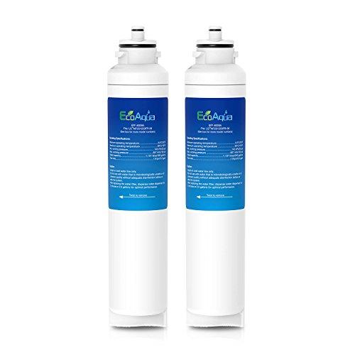 EcoAqua EFF-6028A - Filtro de refrigeración para LG M7251253F-06, M7251253FR-06, M7251242F-06, M7251242FR-06,...