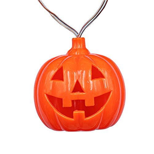 s Lichterkette, 3D Halloween Schnur Lichter 30 LED Karneval Deko Lichterketten Innen Batteriebetrieben Beleuchtung Dekoration für Partys Außen,Warmweiß [Energieklasse A+] ()