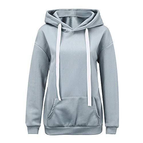 TOPKEAL Hoodie Pullover Damen Herbst Winter Frauen Solid Langarm Brief gedruckt Bänder Kapuzenpullover Sweatshirt Winterpullover Jacke Mantel Tops Mode 2019