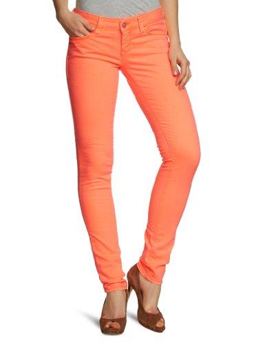Mavi Damen Jeans Niedriger Bund Serena; 1067015441, Gr. 27/34, Orange (15441; Serena; orange Washed neon) Ag Jeans Low Rise Jeans