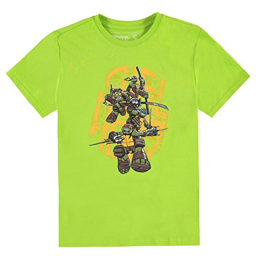 Character Retro TM Ninja Turtles Kinder Jungen T Shirt Kurzarm Rundhals Motiv Shell Heads UK 12-13 Jahre