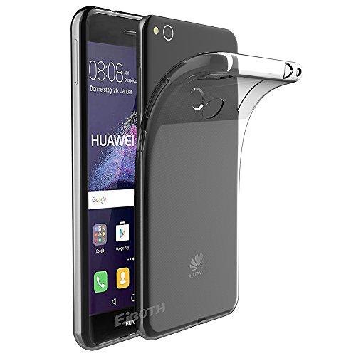 EJBOTH Huawei P8 Lite 2017 Hülle Case hoch transparent Handyhülle Schutzhülle aus TPU Material, komplett Schutz gegen Stoß, Kratzer und Risse [Transparent]