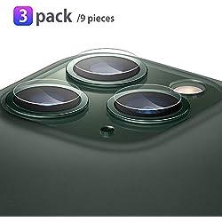 Olycism Compatible pour iPhone 11 Pro 5.8 / iPhone 11 Pro Max 6.5 Verre Trempé Caméra Arrière Protecteur (9 Pièces) 9H Dureté sans Bulle Anti-Rayure Coque 2.5D Vitre Ultra Claire Film