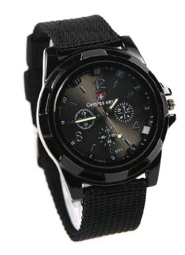 mode-sport-stil-militar-armee-pilot-stoff-band-mann-armbanduhr-uhr-schwarz