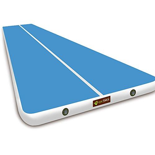 Air Force Eco Gymnastik Air Track Matte, Stärke 20cm X Breite 18.56FT, Blau & Rot, blau, 8 m