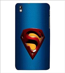 PrintDhaba Superman Logo D-2087 Back Case Cover for HTC DESIRE 816 (Multi-Coloured)