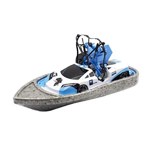 CUEYU Mini-Drohne für Kinder,Ferngesteuerte Boote für Pools und Seen,RC-Car 3 in 1 Seelandluftmodus Umschaltbar Wasserdichtes Luftkissenfahrzeug Spielzeug RC Quadcopter