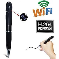 Cámara oculta, espía, en bolígrafo, , Wifi, HD, P2P, Detección de Movimiento