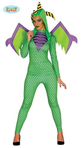 Sexy Drachen Kostüm mit Flügeln für Damen Drachenkostüm Ganzkörper Anzug Gr. M/L, Größe:L (Der Grüne Drache Kostüm Für Erwachsene)