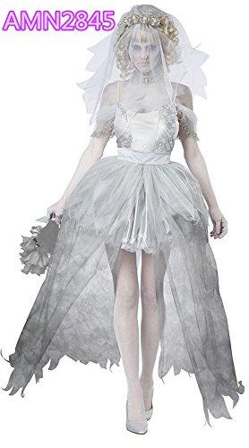DLucc Vampire Zombie Frack Halloween-Kostüm Gespenst Braut Prinzessin Kostüm
