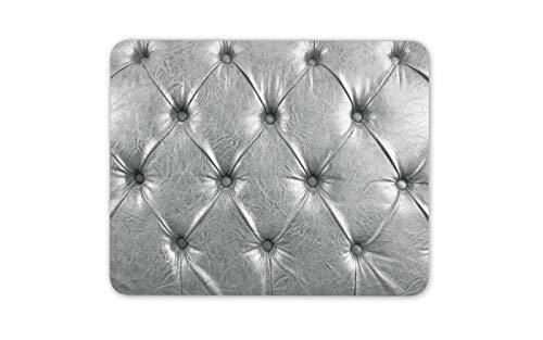Silber Chesterfield schicke Möbel-Dekor-Mauspad-Auflage - Computer-Geschenk # 16139