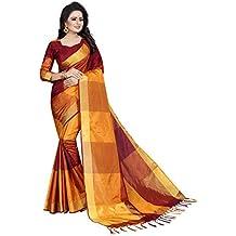 J B Fashion Women's cotton silk muli color Sarees for women