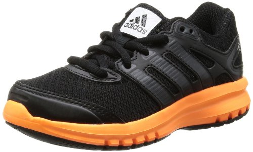 adidas Boy's Duramo 6 K Black and Orange Mesh Running Shoes  - 2 UK/India (34 EU)  available at amazon for Rs.3099