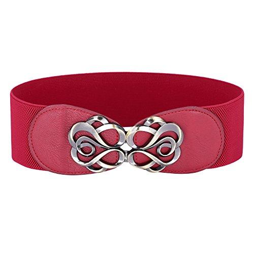 Grace Karin® Damen fashion breit Haken stretch elastisch Taille Guertel Taille Band CL413-3
