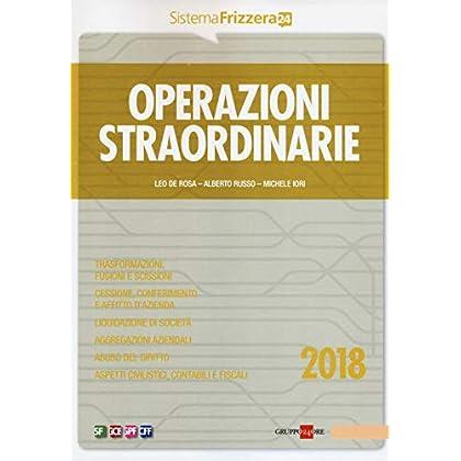 Operazioni Straordinarie 2018