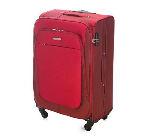 WITTCHEN Reisekoffer Trolley 18'' Koffer, 23x55x35 cm, Rot, 35 Liter, Größe: klein, S, Polyester, TSA Zahlenschloss, 56-3S-481-30 Rot