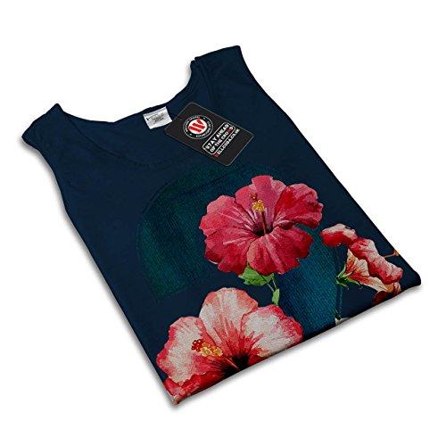 Nummer 2 Rose Kunst Mode Garten Mathe Damen Schwarz S-2XL Muskelshirt |  Wellcoda Marine ...