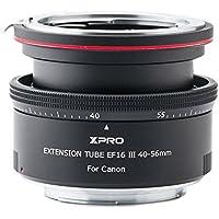 XPRO Automatisch Fokus Makro Zoom Verlängerungsrohr Zwischenring EF-16 40 MM 56 MM aus reinem Metall für Canon Universalobjektive