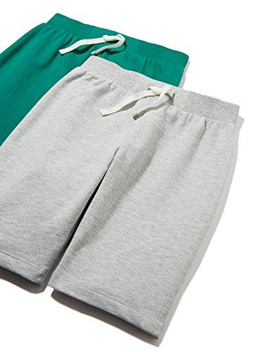RED WAGON Boy's Short set of 2, Grey (Grey/plain), (Manufacturer size: 11 Years)