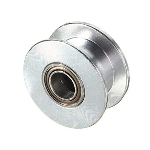 Aluminium Zahnriemen Leerlauf 5Mm Bohrung 2Gt Robustes, Tragbares Aluminium-Synchronrad für 3D-Drucker mit 6 Mm Riemenbreite - Robuste Tragbare Drucker