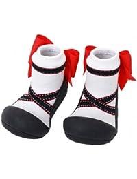 Attipas-Zapatos Primeros Pasos- Ballet- Bco/Negro Talla S