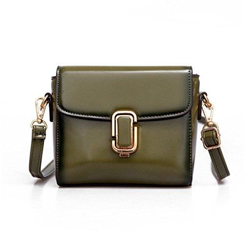 WU Zhi Ms. Bag Piccola Piazza Spalla Messenger Bag Green