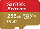 SanDisk Extreme microSDXC 256GB + SD Adapter + Rescue Pro Deluxe 160MB/s A2 C10 V30 UHS-I U3 -