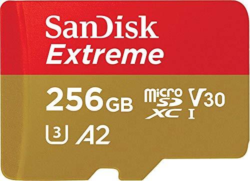 SanDisk Extreme - Tarjeta de memoria microSDXC de 256GB con adaptador SD, A2, hasta...