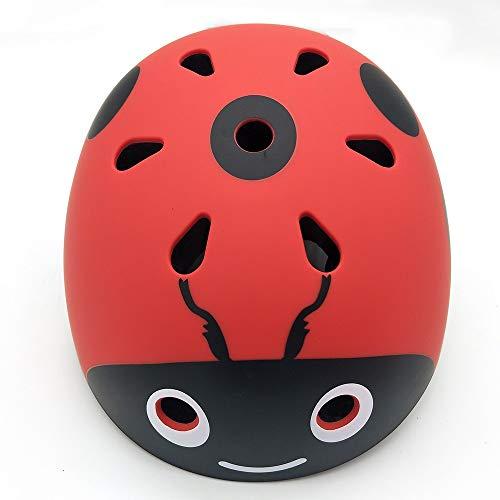 YAJAN-helmet Kinder Fahrradhelm, EPS ABS 3D Tiere Gut Belüftet Schutzhelm Passend für Radfahren Skateboard Warten,50-54cm