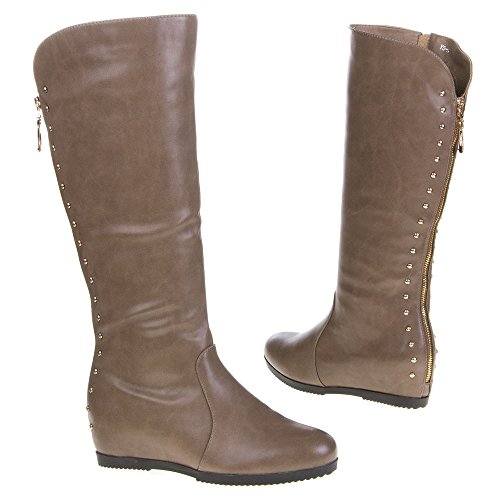 Damen Schuhe, YS-1, STIEFEL Hellbraun