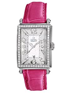 Gevril Avenue of Americas Mini Women's Quartz Watch with Mother of Pearl Dial Analogue Display and White Leather Strap 7249NL
