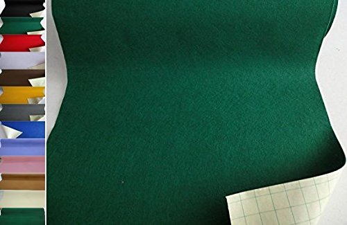 StoffBook EDEL BASTELFILZ FILZSTOFF SELBSTKLEBEND 50CM BREIT STOFF, D201 (Grün)