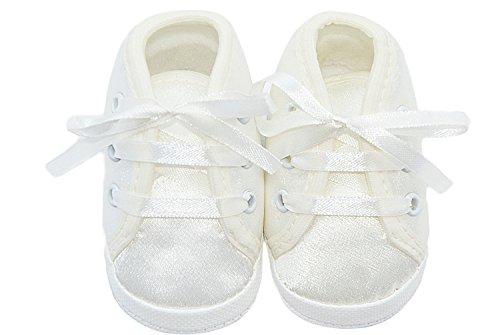 ecru Schleife Babyschuhe Taufschuhe Beige Babyschuhe in Taufschuhe mit mit WpCS0